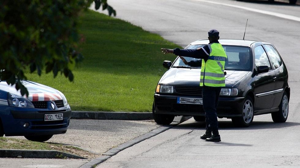 Controle routier realise par des gendarmes