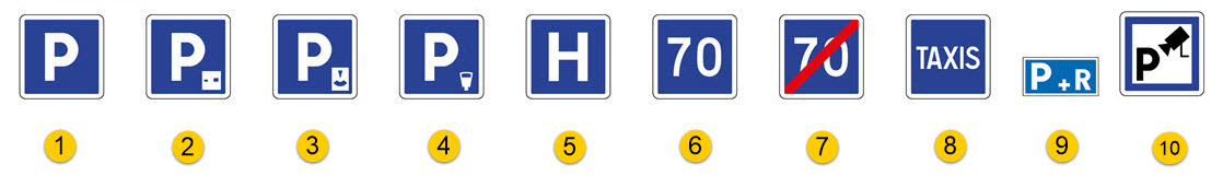 Schéma de panneaux d'indication n°1
