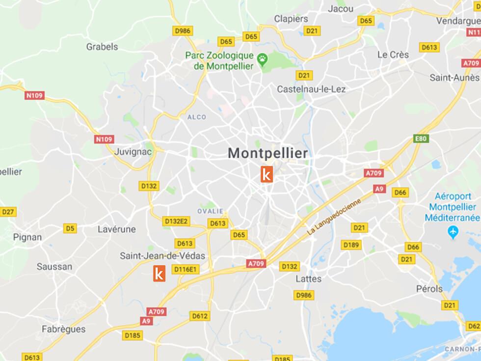 Les points de rendez-vous pour apprendre à conduire à Montpellier et Saint-Jean-de-Védas