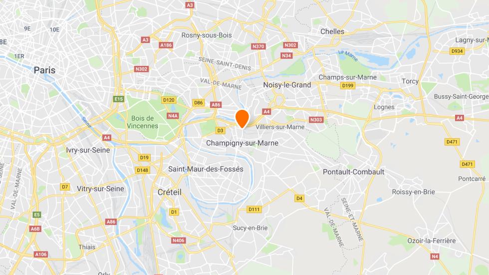 Points de rendez-vous de l'auto-école en ligne Ornikar à Champigny-sur-Marne