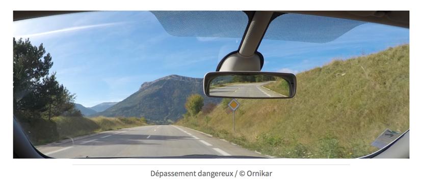 Dépassement dangereux : faible visibilité