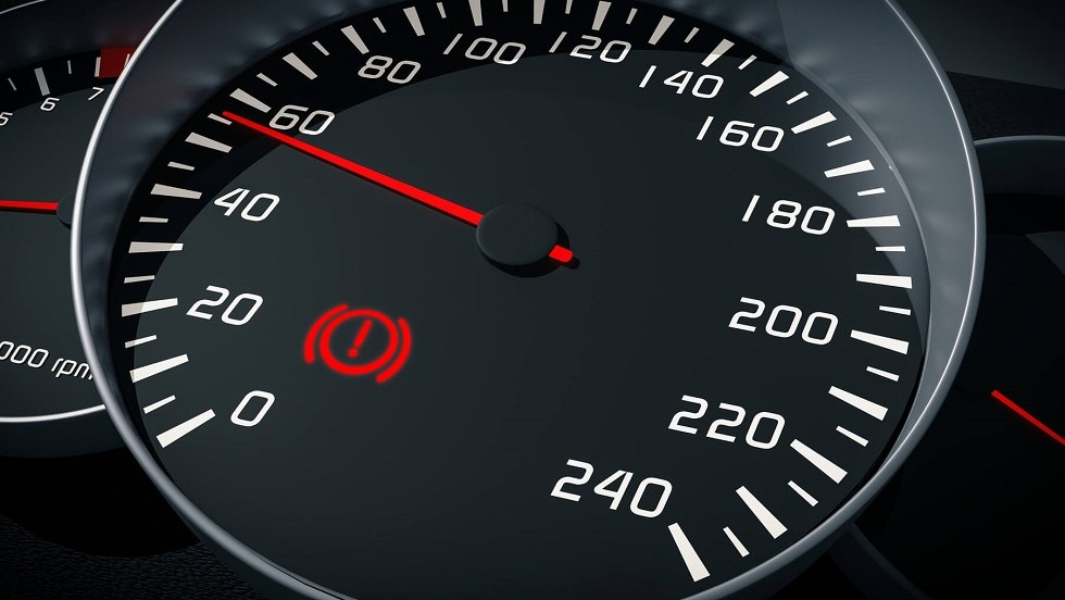 Voyant d'alerte de frein a main actif