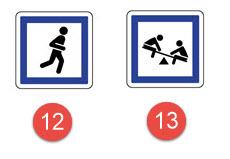 Schéma de panneaux d'indication n°14