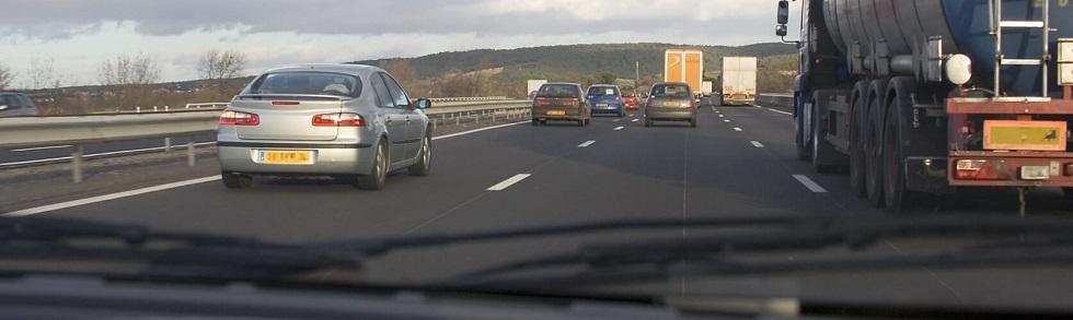 Se rabattre sur autoroute après un dépassement