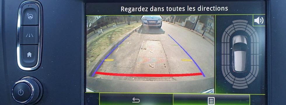 Ecran de la caméra de recul d'une automobile
