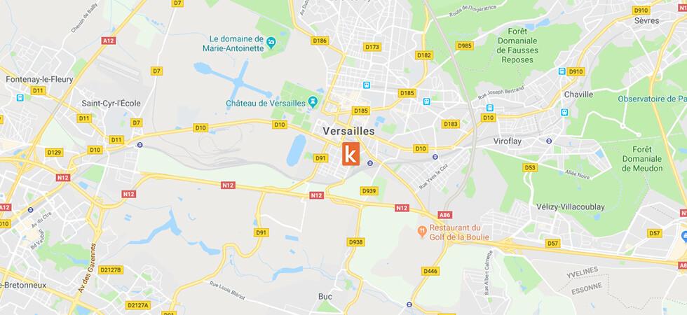 Points de rendez-vous conduite de l'auto-école en ligne Ornikar à Versailles