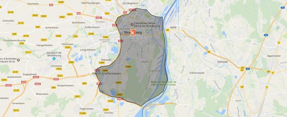 Les points de rendez-vous à Strasbourg de l'auto-école en ligne Ornikar