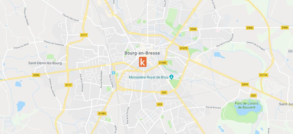 Point de rendez-vous conduite Ornikar à Bourg-en-Bresse