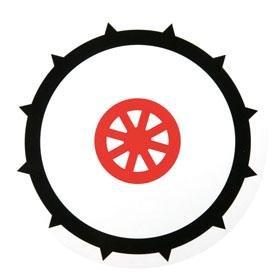 Disque de signalisation d'usage de pneus cloutés des véhicules