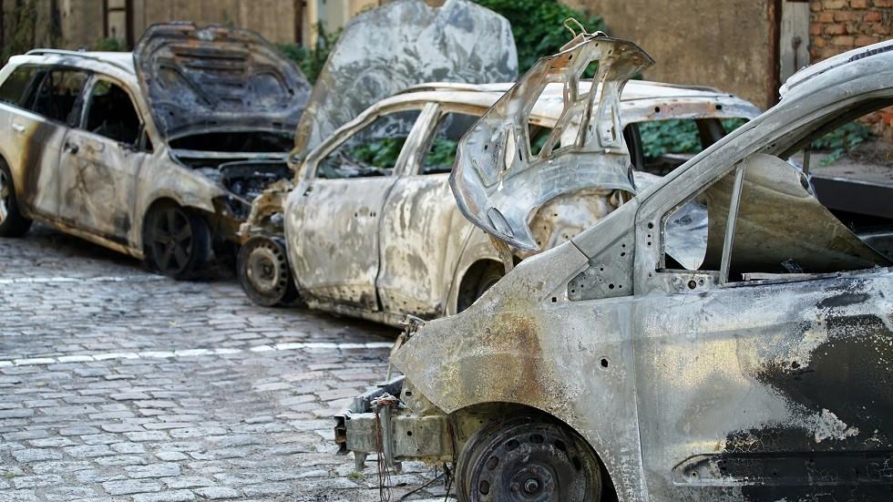 Epaves de vehicules incendies