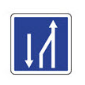 Représentation picturale d'un panneau de fin de créneau de dépassement