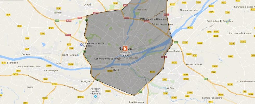 Les points de rendez-vous de l'auto-école en ligne Ornikar à Nantes