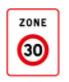 Panneau de zone 30