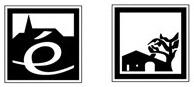 Idéogrammes de villages étapes et de maisons de pays