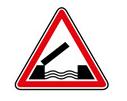 panneau de danger de pont mobile