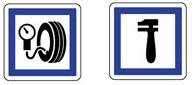Idéogrammes de garages et de points de réparation