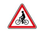 Panneau de danger de débouché de cycliste