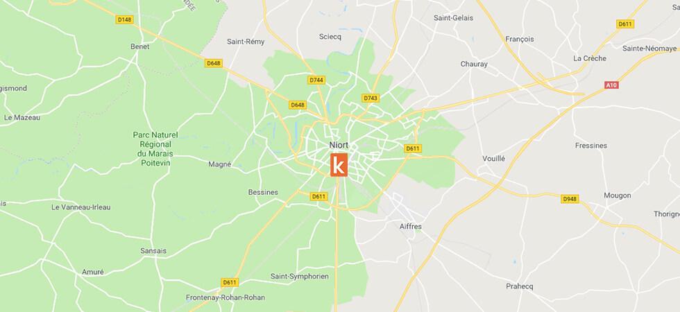Point de rendez-vous de l'auto-école en ligne Ornikar à Niort