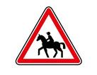 panneau de danger de cavalier