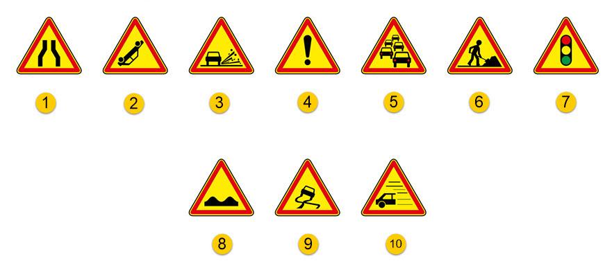 les panneaux de danger temporaire