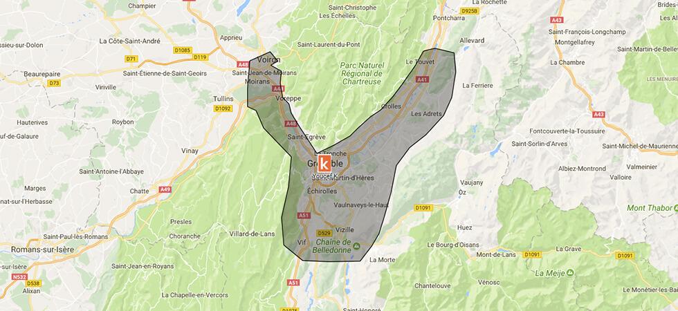 Les points de rendez-vous de l'auto-école Ornikar à Grenoble