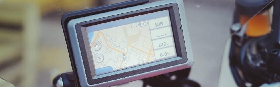 GPS positionné sur un deux-roues