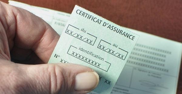 Certificat et vignette d'assurance
