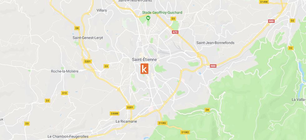 Points de rendez-vous conduite Ornikar sur Saint-Etienne