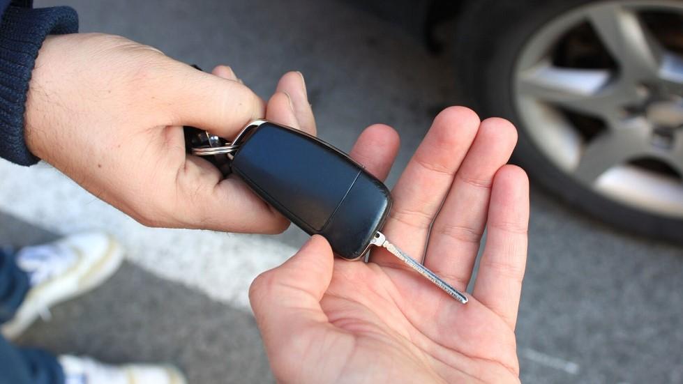 Cle d'une automobile donnees lors d'une vente