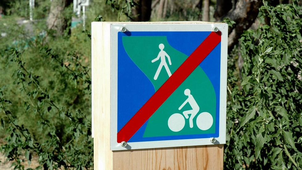 Panneau d'indication de fin de voie verte
