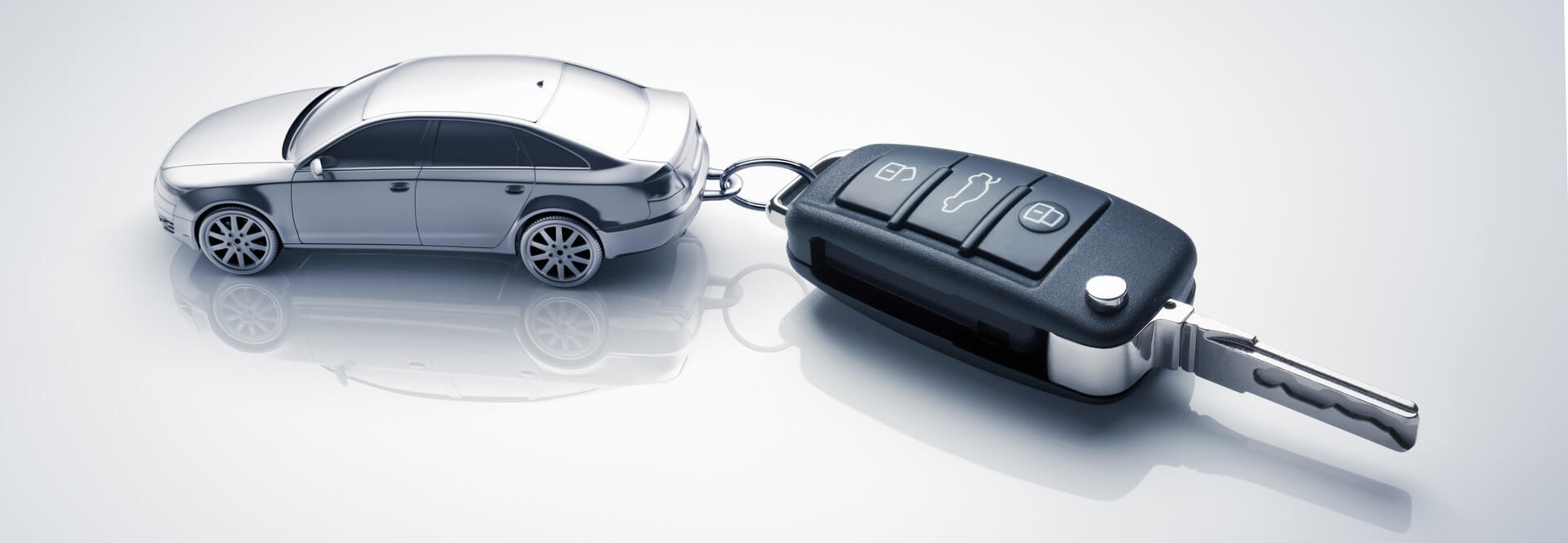 Clé de voiture avec un systeme de verrouillage centralise.