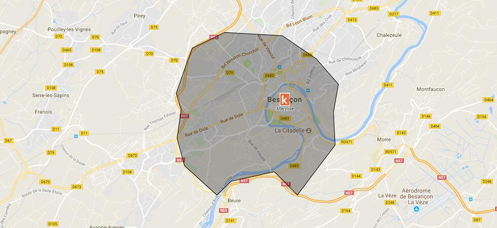 Points de rendez-vous Ornikar à Besançon