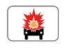 Panonceau de catégorie de véhicules de transport de marchandises transportant des marchandises explosives ou hautement inflammables