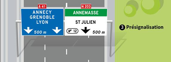 Panneau de prévisualisation de sortie avec affectation des voies.