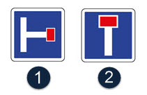 Schéma représentant différents panneaux d'impasses