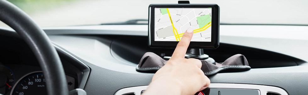 L'écran du GPS d'une automobile