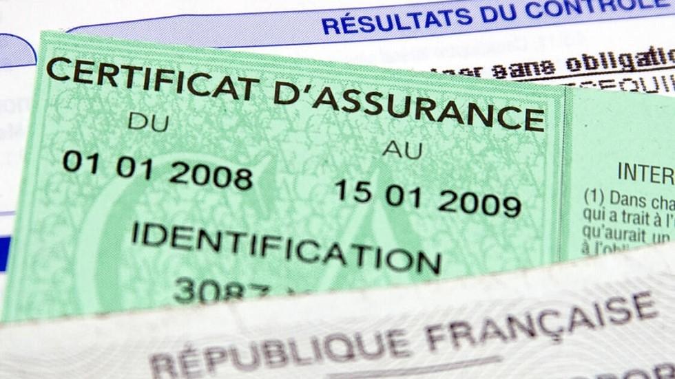 Certificat d'assurance d'un usager de la route