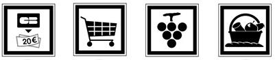 Idéogrammes de points de consommation