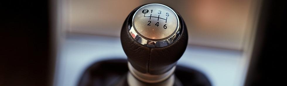 Photographie représentant un levier de vitesse pour boîte manuelle