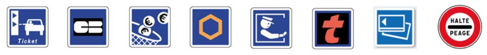 Panneaux spécifiques aux autoroutes
