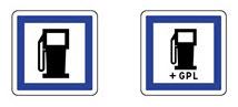 Idéogrammes de points de distribution de carburant