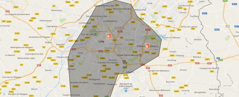Les points de rendez-vous de l'auto-école en ligne Ornikar sur Lille